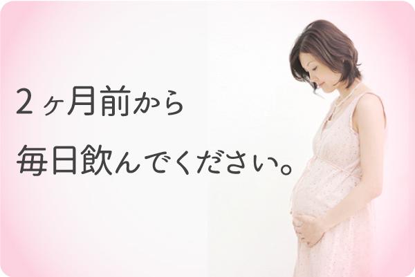 妊娠2か月前からスタートして下さい